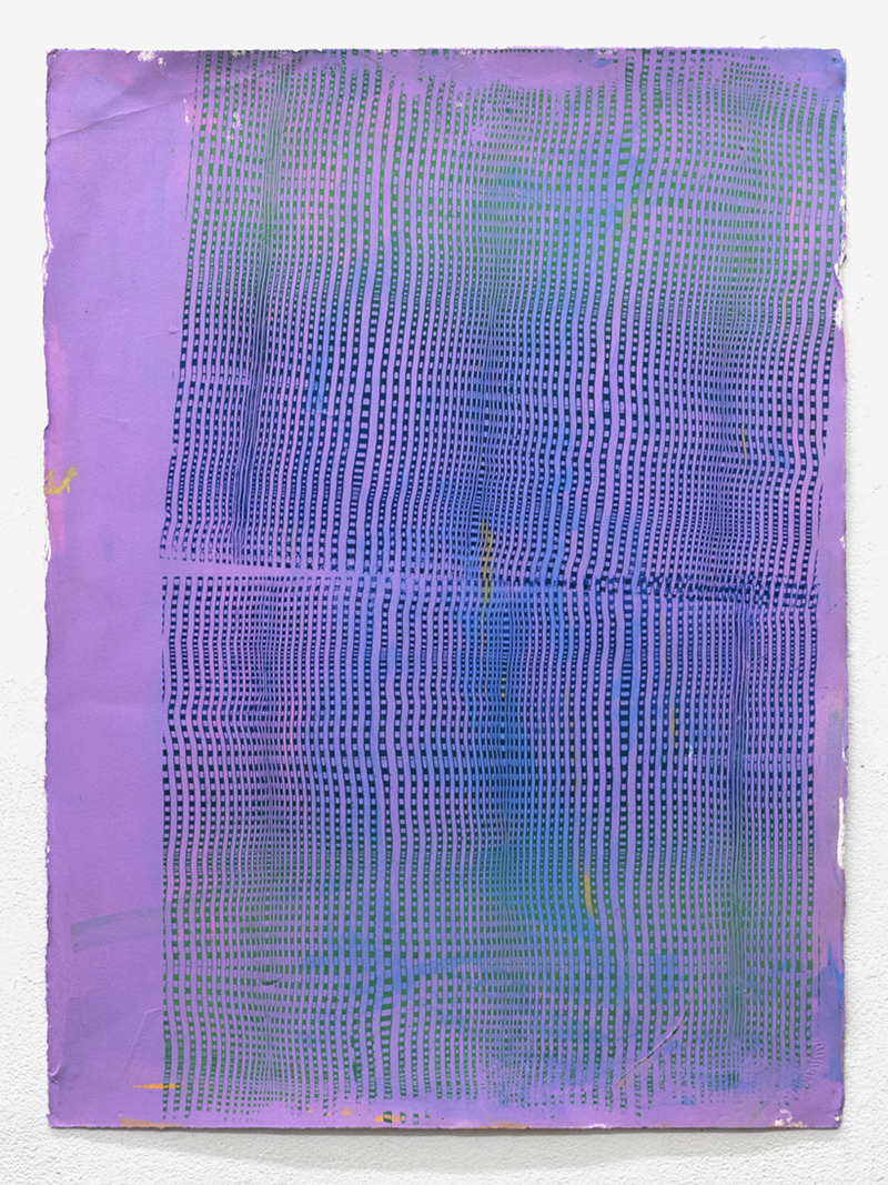 (Monoprint) acrylic and screenprint on paper, 30x20 inches, 2017