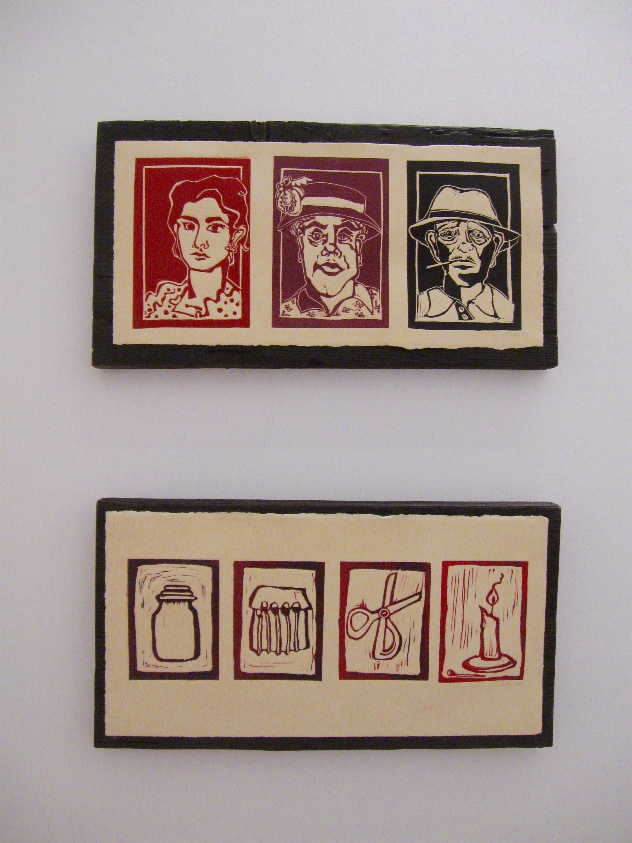 Relief print on wood, 2014