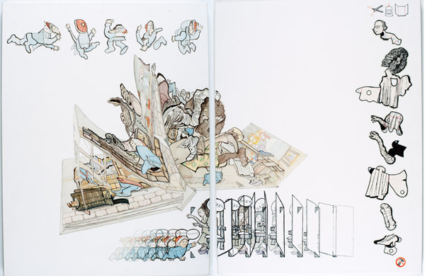 Watercolor, gouache, and colored pencil on paper stretched over wood panel, 24 x 18 inches, 2011