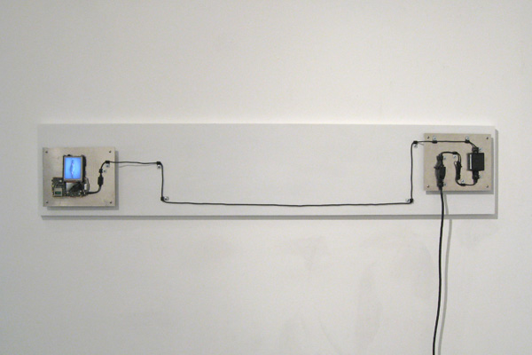 Digital model, PDA, wires, wood, aluminum, 60 x 14 x 3 inches, 2007