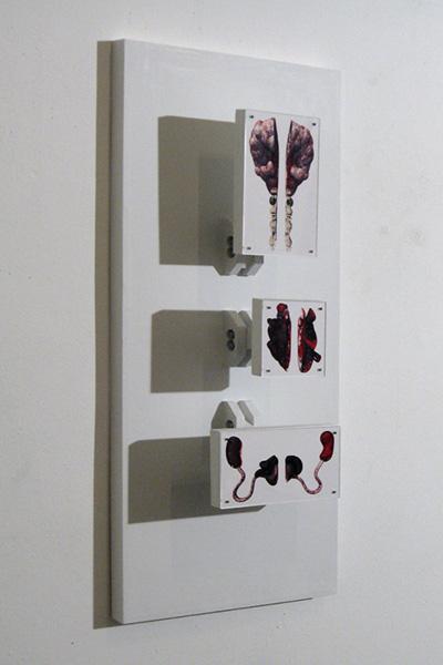 Digital model, wood, Plexiglas, 42 x 14 x 8 inches, 2007