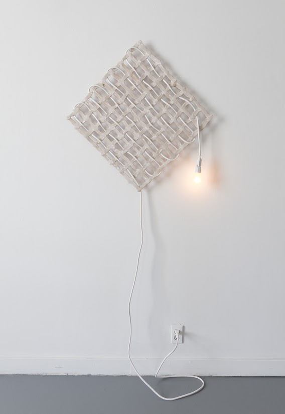 High fire ceramics, glaze, extension cord, light bulb, 60in x 30in x 1in, 2015