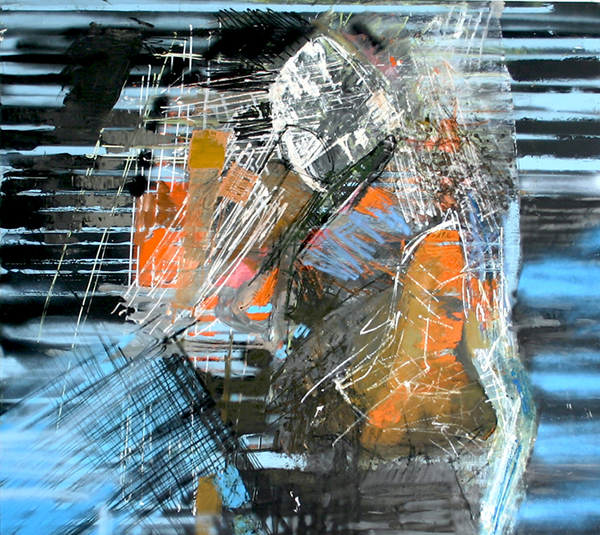Oil on wood, 51 x 55 inches, 2012