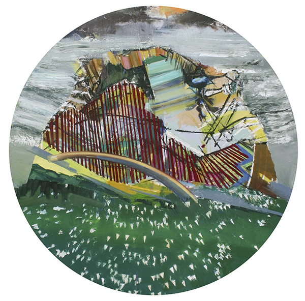 Oil on canvas, 48 inches diameter, 2012