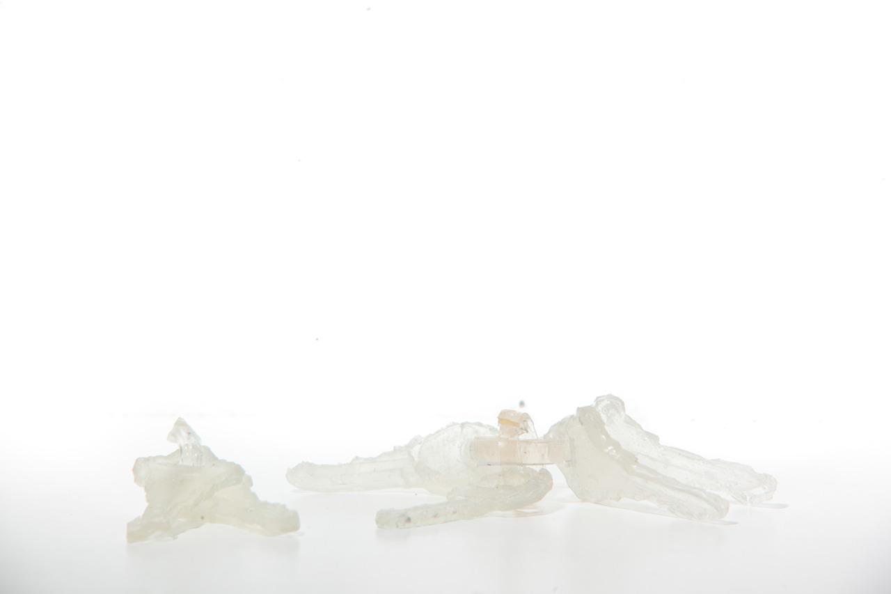 Cast acrylic, dimensions vary, 2011