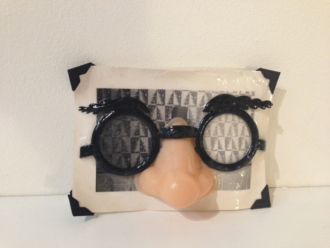 Snapshot and Groucho mask, 2 x 3 x 1 inches, 2013
