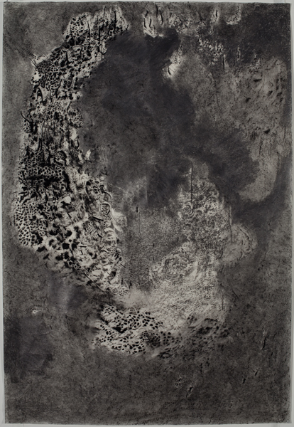 Graphite and charcoal on paper, 45 x 30 inches, 2011