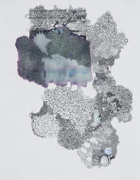 Pigment pen and ink jet on paper, 11 X 9 inches, 2011