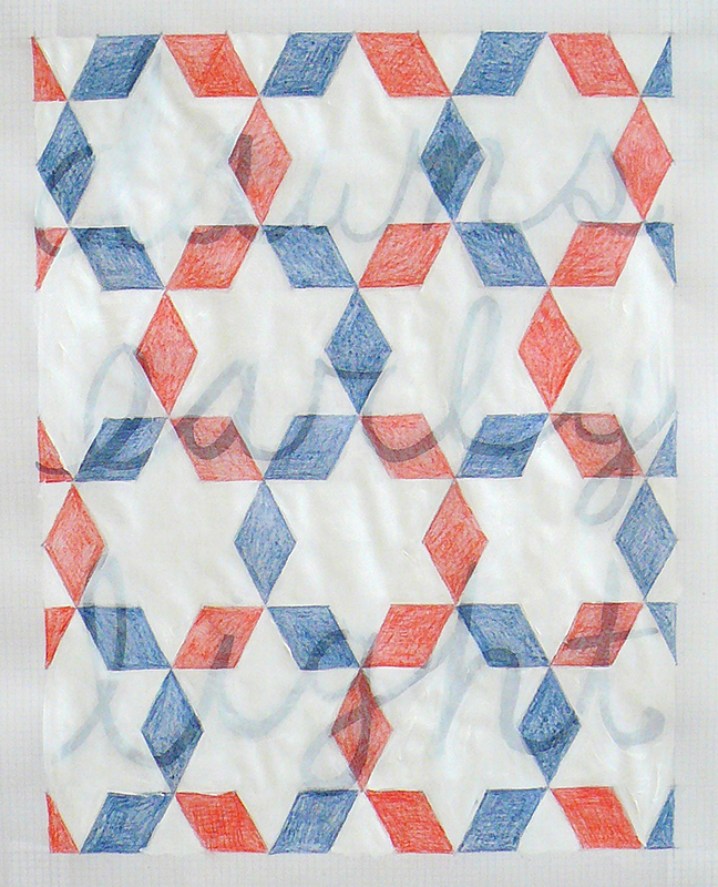 Acrylic, pencil, and india ink on graph paper, 2011
