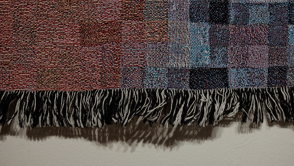 Digital jacquard weaving, 80 x 60 inches, 2015