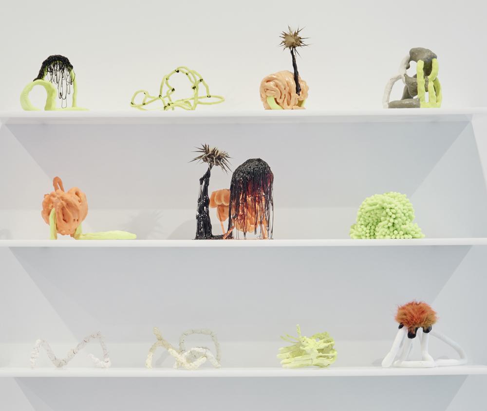 Ceramic, Faux Fur, Glue, Paint, Yam, Spray Foam, Organic Material, Unfired Porcelain, Aluminum, Wood, Self-curing Clay, 42 x 36 x 8 In., 2017
