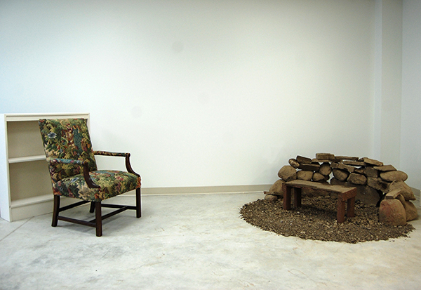 Dirt, rocks, and wood, 4 x 2 x 4 feet, 2013
